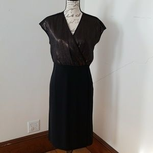 Narciso Rodriguez black dress with gold sequin